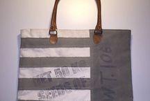 Vintage canvas tassen / canvas bag