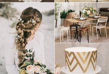 Styled Photoshoot - Boho Greenery / Colour Scheme: 1. Green 2. Gold 3. Peach  Theme - Boho Greenery