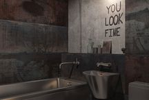 Nápisy koupelna
