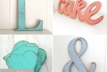 Decorations ♥️ Letters & Signs / Home decor with letters & signs / by Cinzia Corbetta