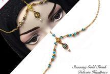delicate bespoke small headpiece indian hijab wear