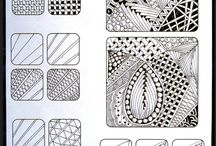 Zentangles / A collection of other folks awesome Zentangles and how to's to try my own hand at Zentangling! :)