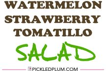"Recipe Ideas: Tomatillo / Each week I play ""What's this Wednesday"" with my community.  We share our favourite ways to eat a healthy food - because we all could use some kitchen inspiration! #recipes for #tomatillos Join us: http://KristenYarker.com/blog"