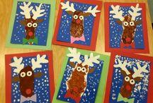 Christmas art for kindergarten
