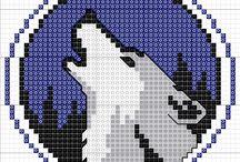 Wölfe Bügelperlen