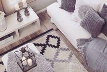 Διακόσμηση σπιτιού Grey and white living room