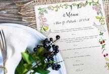 Menu Design Ideas / Ideas and inspiration for beautiful menu designs