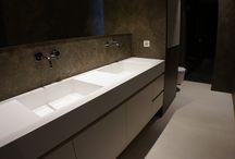 Bathroom with corian