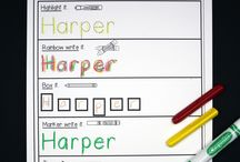 writing name