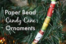 Kids' handmade ornaments