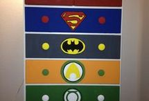 quanies JUSTICE LEAGUE bedroom
