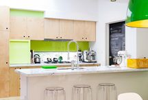 Kitchens with color / by Genie Norris of ColorGenie