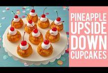 Upside down pineapple cakes