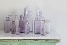 Vintage + Bottles / A collection of vintage glass bottles
