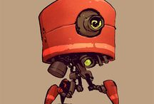 robot & turrets