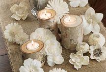 dřevěné kytky