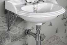 Traditional Wash Basins / The St James Collection Traditional Washbasins have been inspired by classic Victorian designs.  Two sizes are available, the generously proportioned large traditional washbasin or the more compact cloakroom traditional washbasin.   Local materials are used to make our Traditional Washbasins, such as china clay from Devon and Cornwall, and quartz sand from Cheshire. Each Traditional Washbasin is individually hand-finished to achieve its perfectly smooth finish.