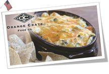 Orange Crate Dip & Cheeseball Party / https://www.tryazon.com/dip-and-cheeseball-party/