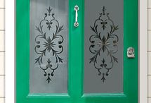 Stencil for windows/doors