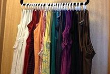 Closet space in a hanger