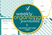 Free Printable-  Daily,Weekly & Monthly Organization Lists / by Mary Barnes-Ekobena