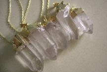 Raw crystal jewellery