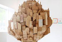 Escultura carton