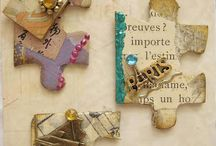 Art - Altered Puzzle Pieces / by Teresa Pannell