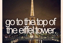 My Bucket list  / Things I want to do and places I want to visit. ✈