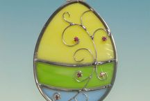 glass Easter decorations