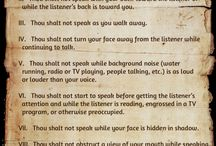Hearing Impaired Commandments