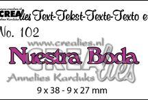 Crealies dies: Texto Espanola / Crealies dies: Texto Espanola You can buy them here: https://www.crealies.nl/n1/32157/Stans-Texto-espa-ola.htm