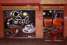 PERSIANAS COMERCIOS / Persianas de cierre de comercios y tiendas pintadas a mano.