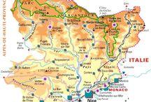 Cartes de villes, pays, lieux / Carte permettant de se repérer dans des villes, pays ou lieux touristiques en France ou dans le monde