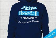 FORZA NAPOLI 1926 / Felpa con Cappuccio (e senza) T-Shirt Unisex  ForzaNapoli1926