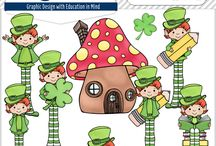 St. Patrick's Day Clip Art / Thank you for visiting! The 3AM Teacher Clip Art original illustrations by Michelle Tsivgadellis. Custom, hand-drawn clip art for teachers, crafters and TPT sellers.  Commercial use okay {restrictions apply}. Visit my complete terms of use on my website by clicking the link here:  http://www.3amteacher.com/clipart-terms-of-use.html