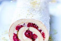 Gâteaux roulés framboises et pistaches