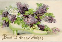 Free Vintage Birthday Printables / Free vintage birthday printables and illustrations from the 19th to early 20th century. Vintage birthday cards, Victorian birthday die cuts, and antique birthday postcards.