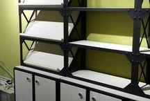 Стеллажи в стиле лофт для маркетов, магазинов и студий. / Проектируем, производим и монтируем стеллажи в стиле лофт. Мебель в индустриальном стиле. Мебель из металла для стильных пространств от производителя в Москве.