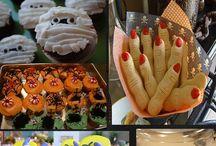 Halloween treats and decor