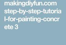 Tutorials for painting concreteb