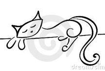 Kresba kočka