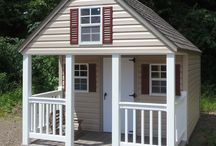 Playhouses / Our playhouses are a wonderful addition to any home with real windows, porches, swings and even a loft inside.