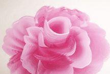 Rózsa akril lépésenként