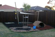 Backyard Project / We have two small huskies that love to dig, run, and play with each other. We need a yard that can withstand that as well as keep them entertained. These are my ideas.