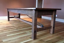 Handcrafted Tables / Handcrafted Farmhouse Tables are custom-designed to fit our customers needs. Dimensions, stain and material vary from project to project.