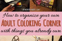 Adult Coloring Lifestyle / Tips and ideas for hosting a fun adult coloring party, creating amazing coloring gifts, displaying your finished colored pages, storing your coloring supplies and more.