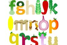 EAT + YOUR + VEGGIES (+ FRUIT) / Fruit and veggies aren't just yummy.  They make the cutest prints for babies and kids, too!