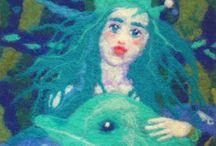 Julia Khoroshikh. Felt painting / My works