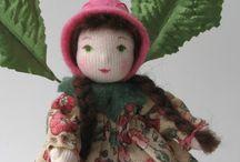 boneca de tricot